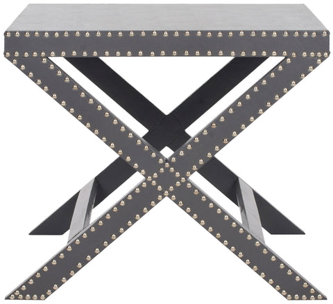 JEANINE X END TABLE GREY