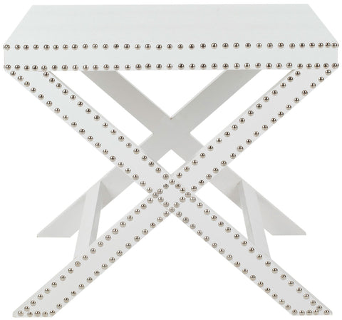 JEANINE X END TABLE WHITE