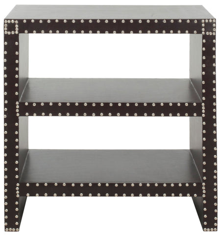LACEY TWO TIER SIDE TABLE CHARCOAL