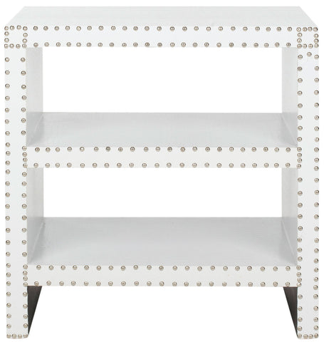 LACEY TWO TIER SIDE TABLE WHITE