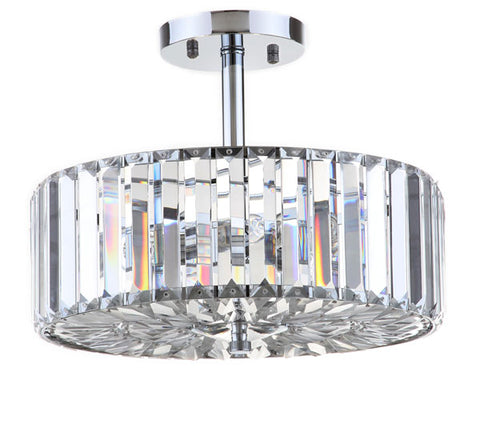 ARIEL 3 LIGHT CHROME 13.5-INCH DIA CEILING LIGHT