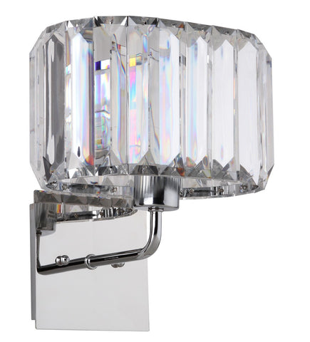 ATHENA CHROME 11.25-INCH H ACRYLIC WALL SCONCE