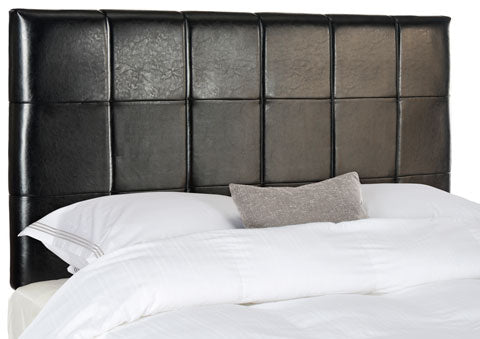 QUINCY BLACK LEATHER HEADBOARD