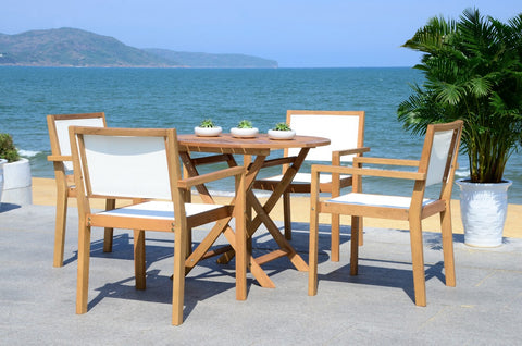 CHANTE 35.4-INCH DIA ROUND TABLE 5 PIECE DINING SET