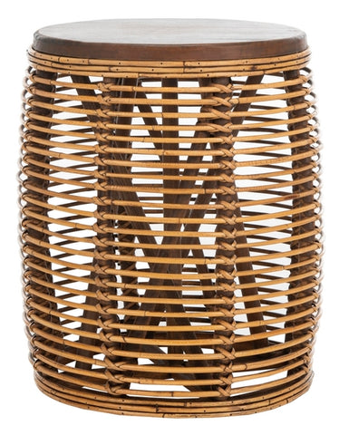 MAUI RATTAN DRUM STOOL TABLE