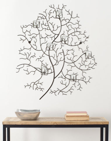 7 VOTIVE TREE WALL DÉCOR