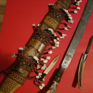 Mandau sword by Dayak tribe of Indonesia