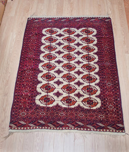 Eight Gul Turkman Rug