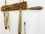 Native North American Bow and Arrow Set