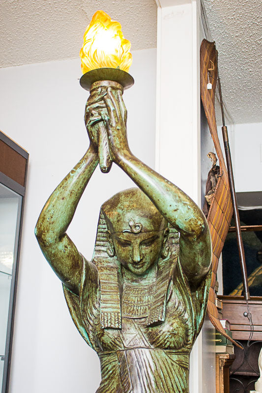 Egyptian Statue with Light