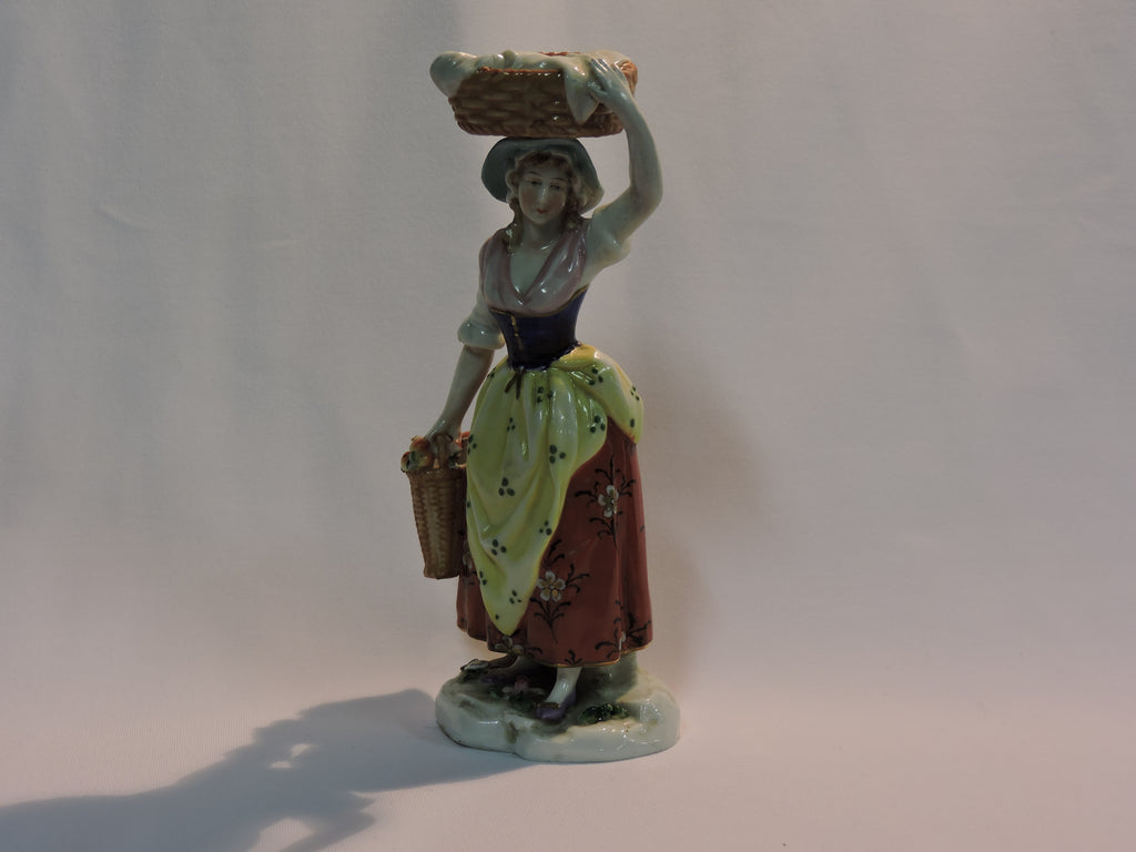 Porcilene Woman Carrying a Basket