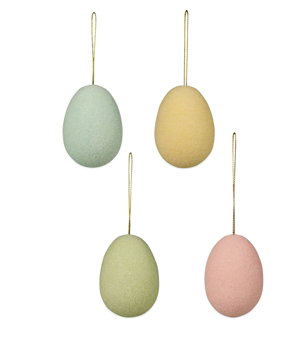 LC7045 - Pastel Flocked Egg Ornament Medium