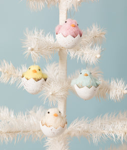 RL9805 - Chick in Egg Ornaments Set of 4