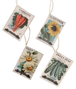 TL7800 - Seed Packet Ornament Set of 4