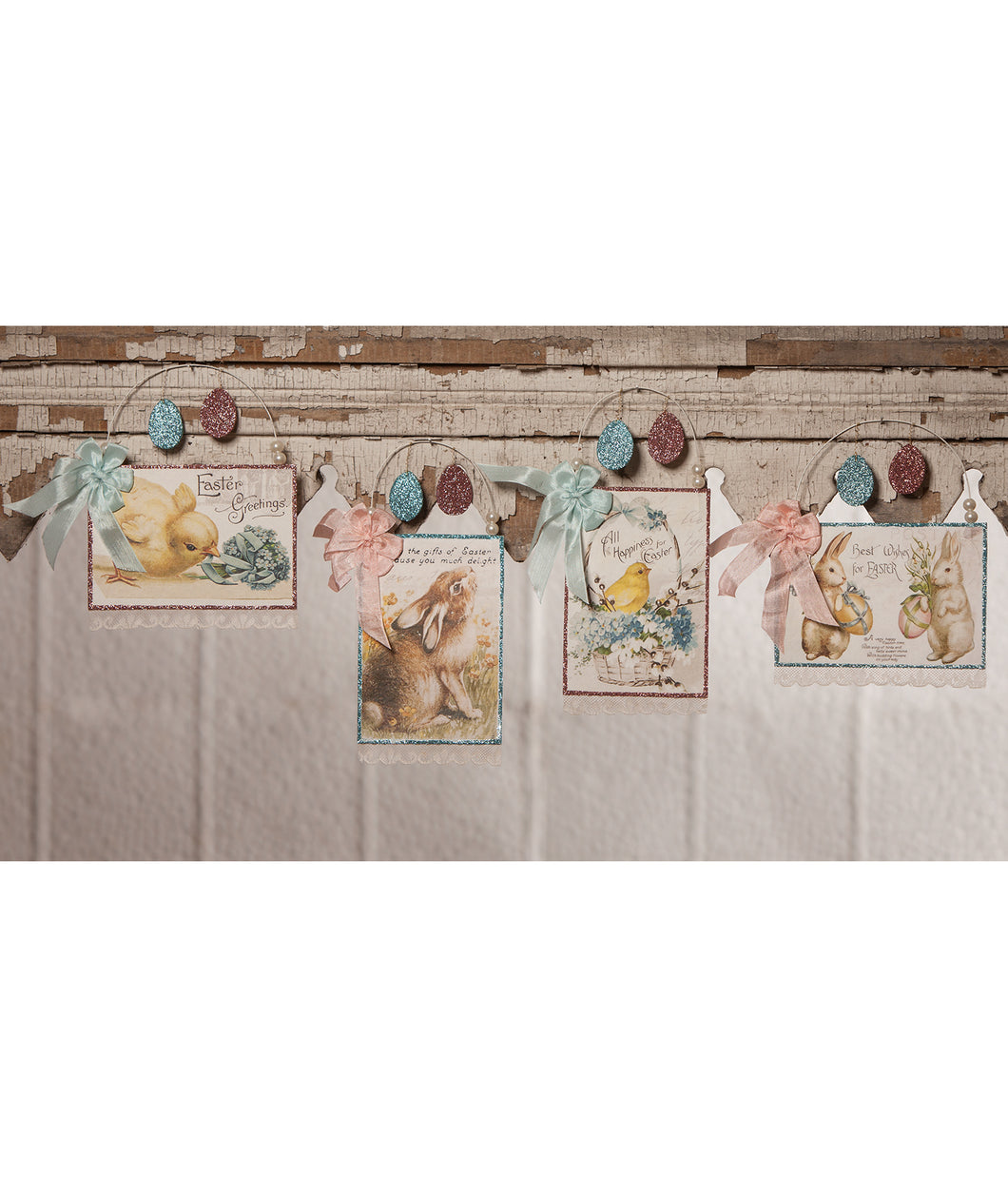TL8710 - Pastel Easter Postcard Ornament