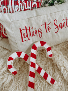 Double Wooden Vintage Candy Cane