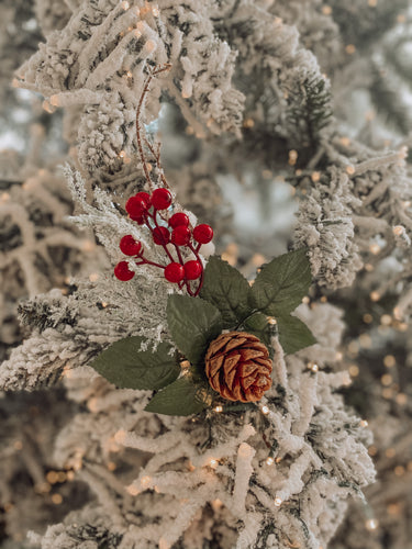 Frosted Pine Cone Berry Pick - 73321