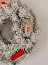 Load image into Gallery viewer, Frosted Christmas Village Wreath - Style 1