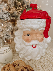 Vintage Santa Cookie Jar