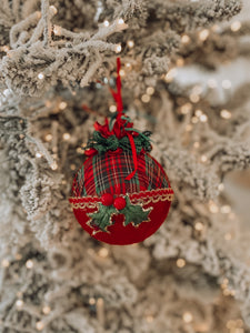 Katherine's Collection - Plaid Ball Ornament