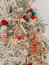 Load image into Gallery viewer, Vintage Gingerbread House Clay Ornament