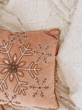 Load image into Gallery viewer, Pink Velvet Snowflake Cushion Cover