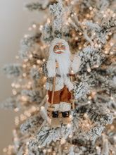 Load image into Gallery viewer, Skiing Nordic Santa Ornament