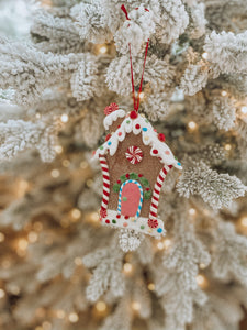 Lolly Gingerbread House Ornament