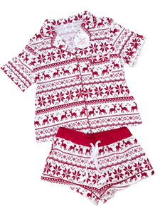 Fair Isle PJ's - Womens 2 Piece Set