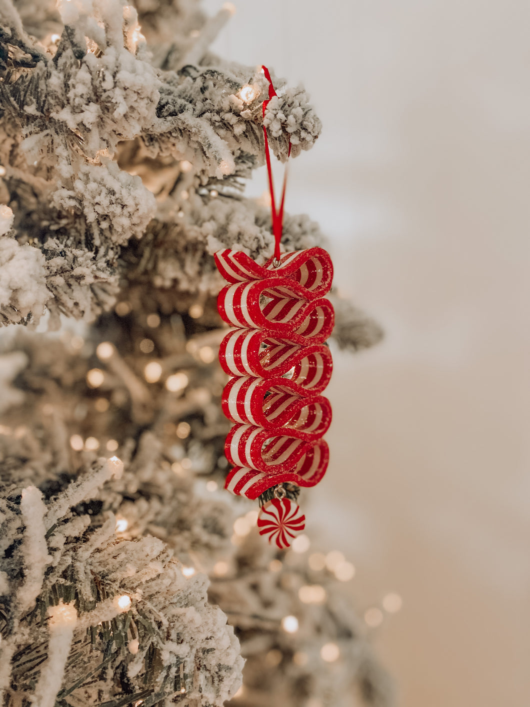 Sour Peppermint Candy Ornament