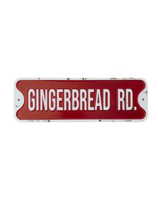 Gingerbread Road - Tin Sign
