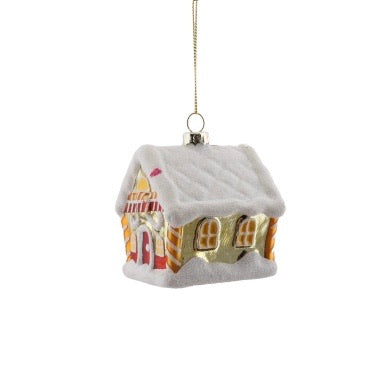 Gold House Glass Ornament