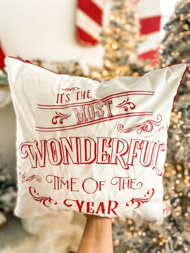 PRE ORDER - It's The Most Wonderful Time of the Year Cushion Cover