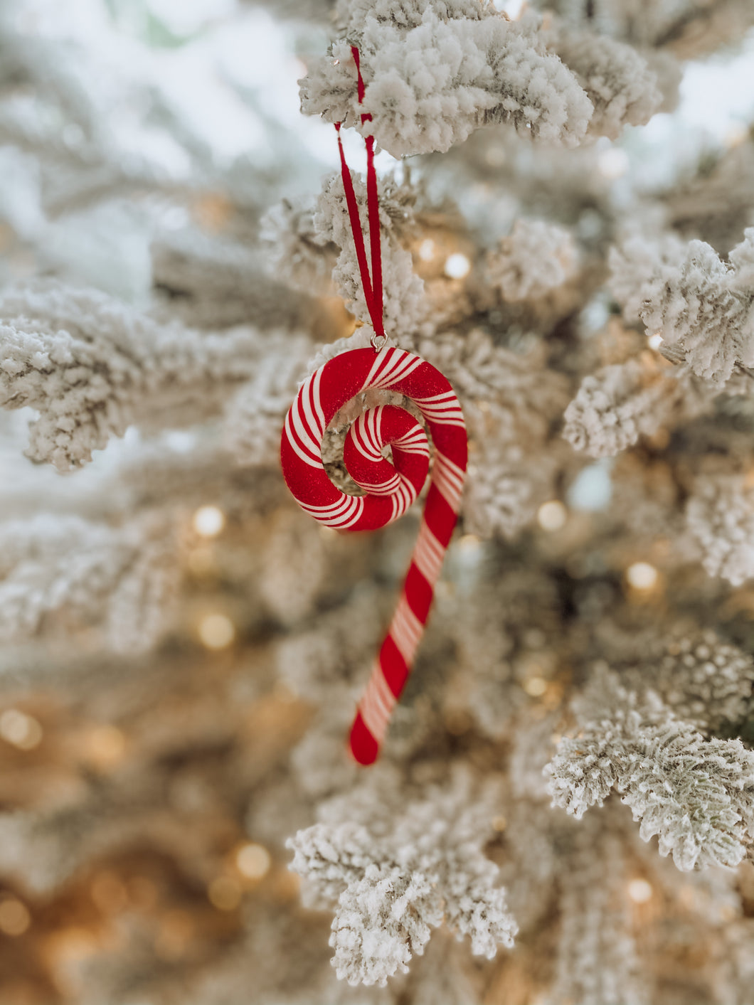 Swirly Candy Cane Ornament
