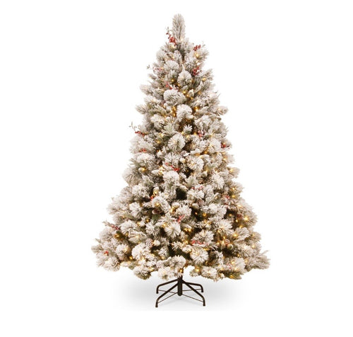 Pre Lit Frosted 7.5foot (229cm) Snowy Bedford Tree