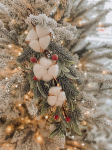 Frosted Cotton Berry Mistletoe - 720608