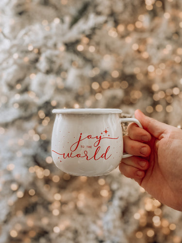 Joy To The World Enamel Mug