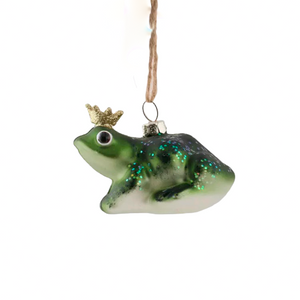 Frog Prince Glass Ornament