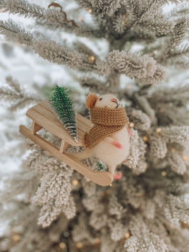 Merry Mice - Winter Sled Mouse