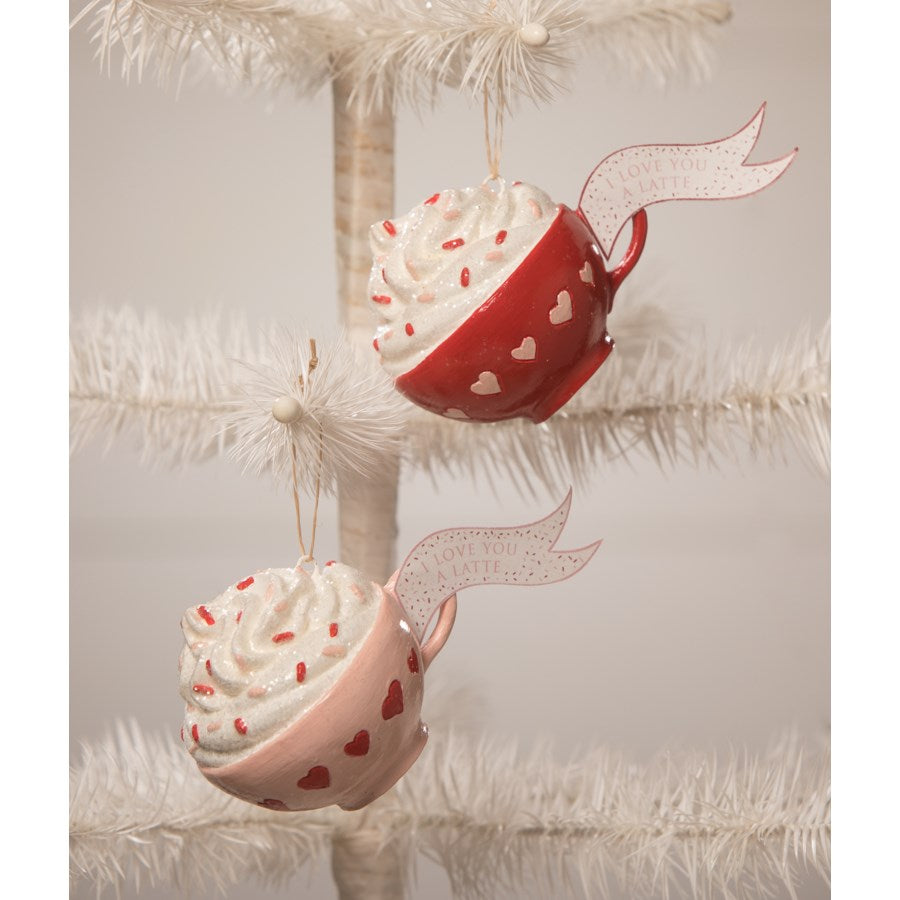 I Love You a Latte Ornament Set of 2 - TF0101