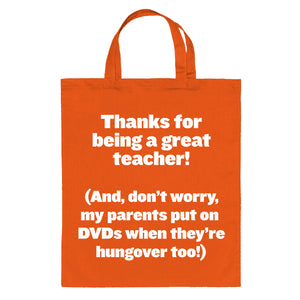 Hungover Tote Bag for Teachers
