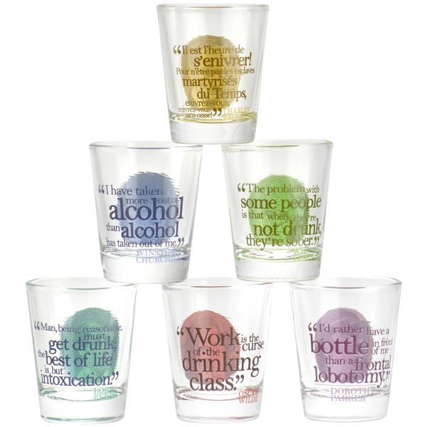Great Drinkers Shot Glasses