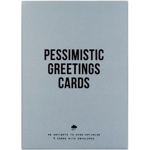 Pessimistic Greetings Cards - Set of 5