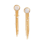 Load image into Gallery viewer, Fonda Round Baroque Pearl Chain Tassel Earrings