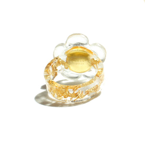 Flower Power Ring, 24k Gold Foil & Resin Band