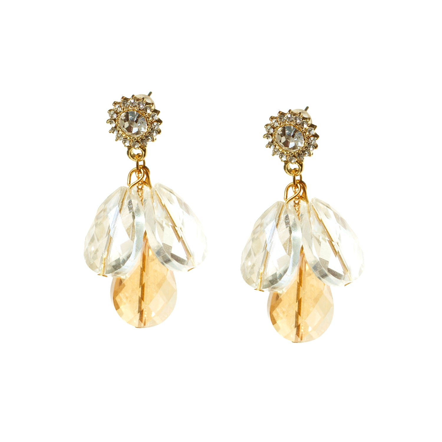 In the Dawn Crystal Drop Stud Earrings