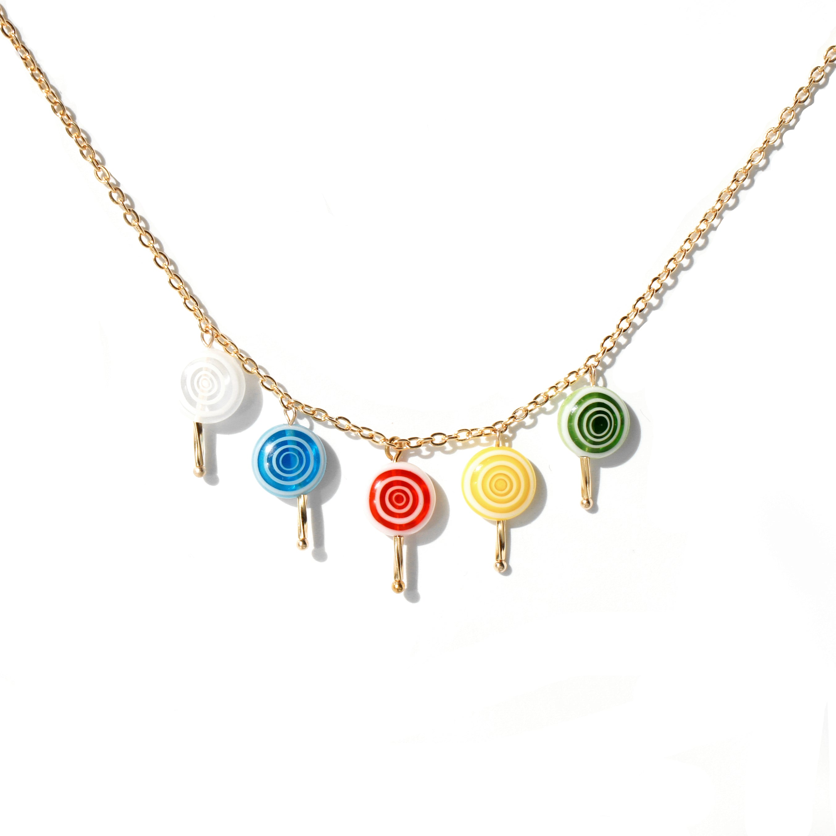 Sugar Sweet Swirl Lolli Necklace