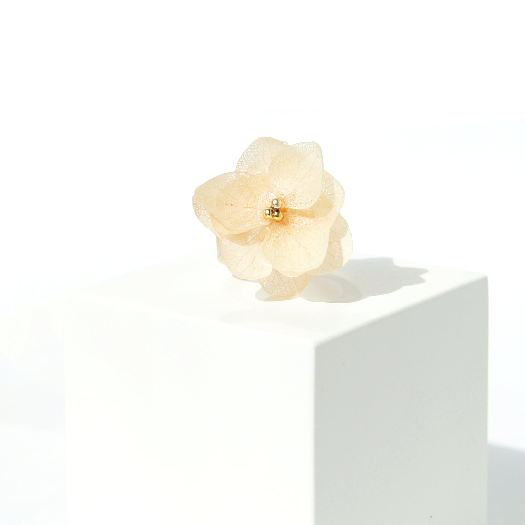 *REAL FLOWER* Mood Booster Hydrangea Flower Statement Ring