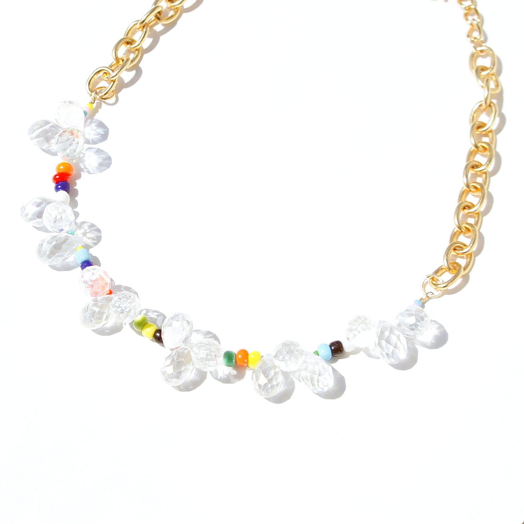 Over the Rainbow Iridescent Crystal Necklace