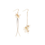 Load image into Gallery viewer, *REAL FLOWER* Savill Lace Hydrangea Asymmetrical Drop Earrings